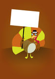 Thanksgiving Turkey holding a sign Royalty Free Stock Images