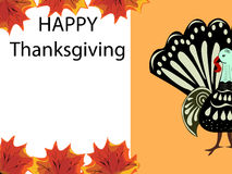Thanksgiving Turkey holiday background maple leaves Stock Images