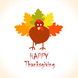 Thanksgiving turkey leaves Royalty Free Stock Photography