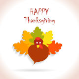 Thanksgiving turkey leaves Royalty Free Stock Images