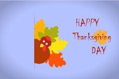 Thanksgiving turkey leaves Stock Image