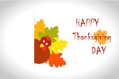 Thanksgiving turkey leaves Royalty Free Stock Photo