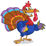 Thanksgiving turkey mascot waving Royalty Free Stock Photography