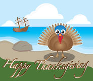 Thanksgiving Turkey. The Mayflower landed on Plymouth Rock as our ancestors found their last chance at civilization. After a horrible winter, Europeans and Stock Images