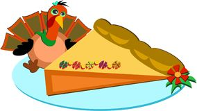 Thanksgiving Turkey and Pie Royalty Free Stock Image