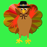 Thanksgiving turkey pilgrim Stock Image