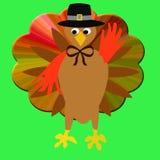 Thanksgiving turkey pilgrim Stock Image