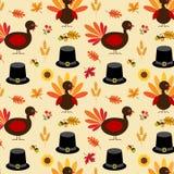 Thanksgiving turkey and pilgrim hat pattern. Thanksgiving turkey and pilgrim hat vector pattern Stock Image