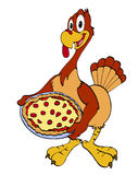 Thanksgiving Turkey With Pizza Stock Images