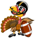 Thanksgiving Turkey Playing American Football Royalty Free Stock Photo