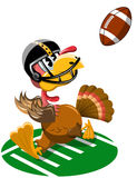 Thanksgiving Turkey Playing American Football royalty free illustration