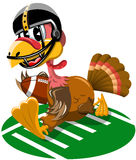 Thanksgiving Turkey Playing American Football Running Stock Photography