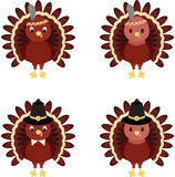 Thanksgiving turkeys Royalty Free Stock Images