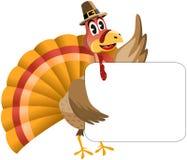 Thanksgiving Turquie tenant la bannière Photographie stock libre de droits