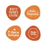 Thanksgiving - typographie de inscription tirée par la main illustration de vecteur