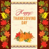 Thanksgiving typography greeting card Stock Image