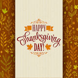 Thanksgiving typography greeting card on seamless. Pattern. Vector illustration EPS 10 Stock Images