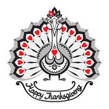 Thanksgiving. Vector background with turkey. Stock Photo