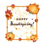 Thanksgiving vector holiday card Stock Photography
