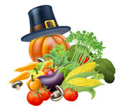 Thanksgiving vegatables illustration Stock Image