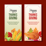 Thanksgiving vertical banner Stock Images