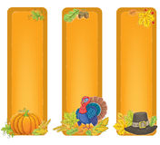 Thanksgiving vertical banners Royalty Free Stock Image