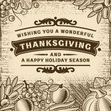 Thanksgiving Vintage Brown Card royalty free illustration