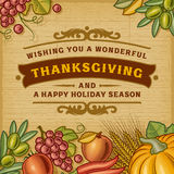 Thanksgiving Vintage Card Royalty Free Stock Images
