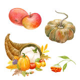 Thanksgiving watercolor clipart Stock Photo