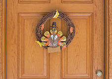 Thanksgiving Wreath Stock Photography