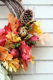 Thanksgiving wreath Stock Images