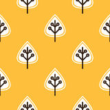 Thanksgiving yellow seamless pattern Stock Images