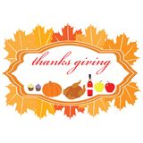 Thanksgivinig poster Royalty Free Stock Images