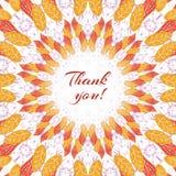 Thankskgivingskaart Royalty-vrije Stock Foto