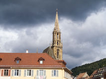 Thann, France. Cathedral of St. Ubaldo Royalty Free Stock Photos