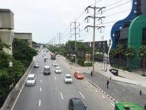 Thanon Nawamin road Street view in Bangkok Thailand Royalty Free Stock Photo