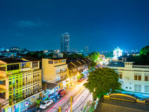 Thanon Phra Athit at night Stock Photography
