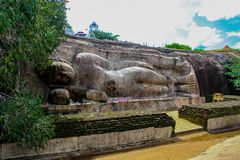 Thanthirimale寺庙在斯里兰卡 免版税库存图片