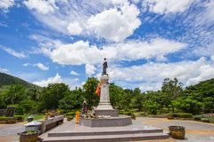 Thao Suranari statue with beautiful sky at Thao Suranari Park,Ban Nong Sarai,Pak Chong,Nakhon Ratchasima,Thailand. Thao Suranari Park is located in Ban Nong Stock Photo