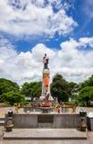 Thao Suranari statue with beautiful sky at Thao Suranari Park,Ban Nong Sarai,Pak Chong,Nakhon Ratchasima,Thailand.Non English text Royalty Free Stock Photography