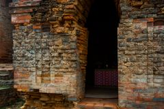 Thap Poshanu torn askfat vietnam Phan Thiet Arkivbilder