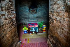 Thap Poshanu torn askfat vietnam Phan Thiet Royaltyfri Bild