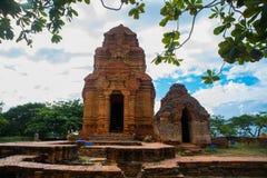Thap Poshanu Towers.Asia. Vietnam.Phan Thiet. royalty free stock photos