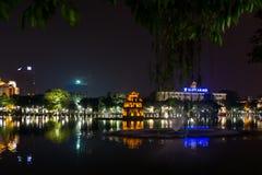 Thap Rua乌龟塔在河内,越南 库存图片
