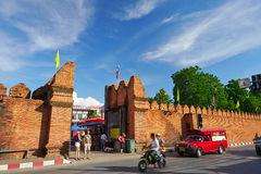 Thapae Gate of Chiang Mai in Thailand Stock Photos