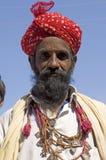 цветастый тюрбан Индии Раджастхана thar пустыни Стоковое фото RF