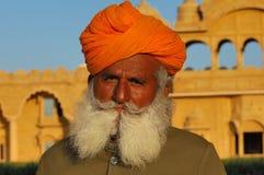 цветастый тюрбан Индии Раджастхана thar пустыни Стоковые Фото