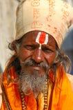 цветастый тюрбан Индии Раджастхана thar пустыни Стоковая Фотография RF