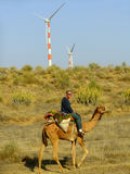 Thar desert forms a natural boundary between India and Pakistan Royalty Free Stock Image