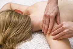 Tharapy massage Stock Photos